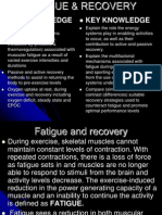 fatigue and recovery