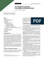 Metrología-2003-B-Recomendaciones para el estudio de la precisión de los procedimientos de medida en el laboratorio clínico