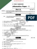 June 2011 Maths I
