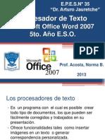 Proce Sad or de Tex to Word 2007