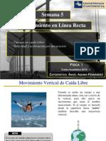 Fisica I - Sem5  - Movimiento en línea recta