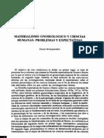 Materialismo Gnoseologico y Ciencias Humanas Problemas y Expectativas