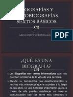 BIOGRAFÌAS Y AUTOBIOGRAFÌAS