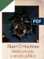 Albert Hirschman Interés privado y acción pública