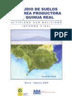 FUNDACIÓN AUTAPO – Programa Quinua A. Sur. 2008 - Estudio de suelos del area productora de quinua real Altiplano Sur boliviano.