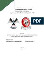 Informe Visita Ptar-cusco