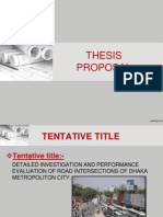 Thesis Proposal of MSc (Transportation Engineering)