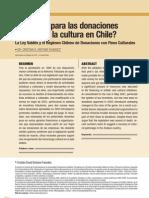 Requiem para las donaciones privadas a la cultura en Chile
