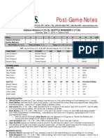 05.11.13 Post-Game Notes