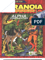 (RPG) Paranoia - Alpha Complexities