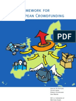 European Crowdfunding Framework Oct 2012