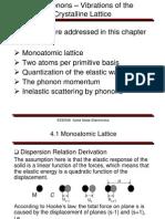 Phonon Vibrations