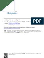 Ashforth & Mael 1989 Social Identity Theory and the Organization