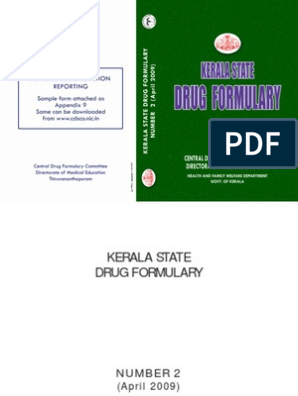 Kerala State Drug Formulary Medical Prescription Drug Metabolism