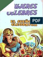 mujeres celebres - el sueño de cleopatra