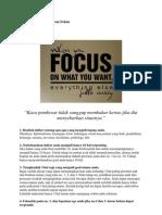 6 Cara Membuat Pikiran Fokus