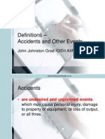 Definitions Accidents and Other Events