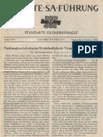 SA-Standarte Feldherrnhalle Nachrichtenblatt 1944 9-10