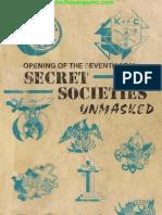 Secret Societies Unmasked (Original)