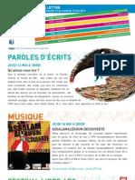 La Lettre de l'IFM Du 12 Au 17 Mai 2013
