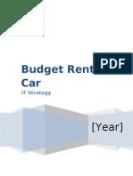 Budget Rent a Car - Strategy