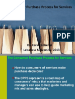 The Consumer Purchase Process for Services