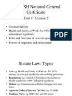 HSE Background and Law - Unit 1 Session 2