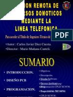 Gestion Remota de Recursos Domoticos Mediante La Linea Telefonica (PFC)
