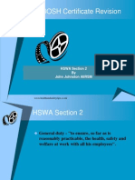 NEBOSH Certificate Revision - Section 2 HSWA