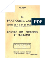 Mathématiques Classiques La Pratique du Calcul 05 Corrigés du Certificats d'Etude Bréjaud Henri