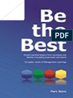 """""""Be the Best"""" - Synopsis PDF. Mark Bates"""