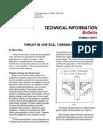 Thrust in Vertical Turbine Pumps