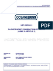 NDT-OPR-011-31 Rad of Welds ASME v Article 2