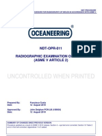 NDT-OPR-011-31 Rad of Welds ASME v Article 2