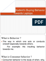 A Study on Students Buying Behavior Towards Laptops