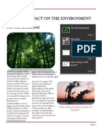 Human Impact on the Environment Newsletter.docx