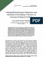 Distinguishing Between Depression and Dementia in Elderly
