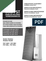 THERMODYNAMIC SOLAR ENERGY Installation manual