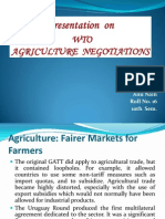 wto(agriculture negotiation)