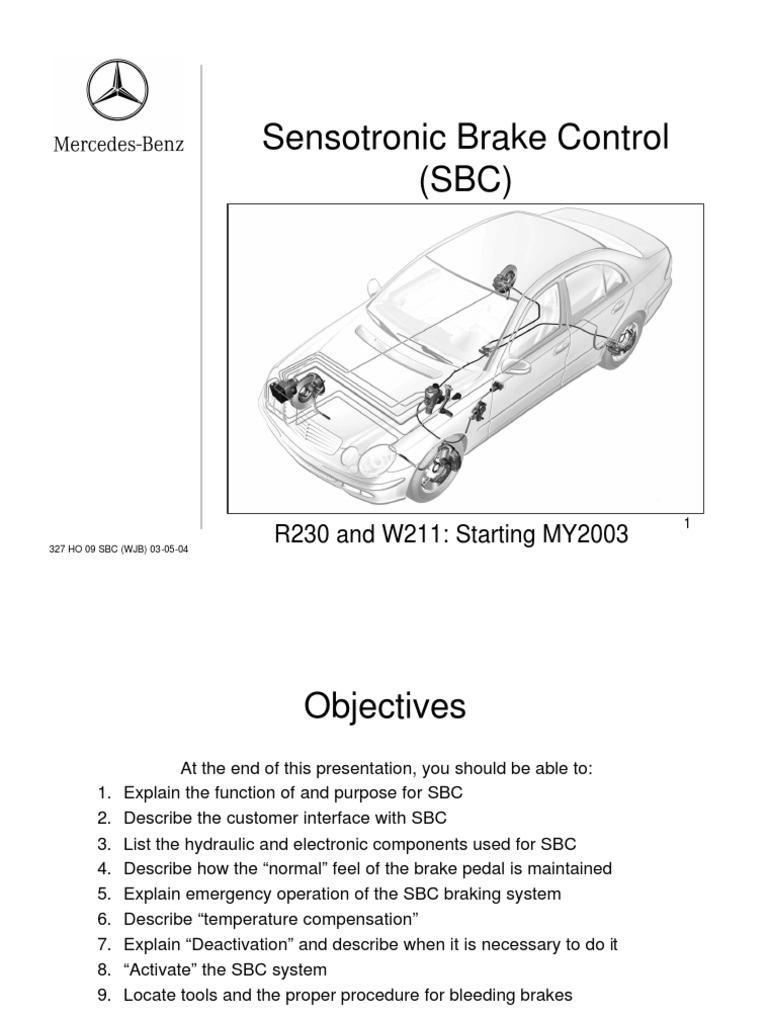 mercedes benz sensotronic brake control sbc anti lock