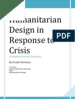 Humanitarian Design Response to Crisis (2)