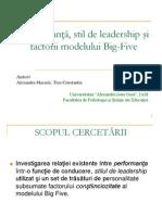 2008 Cluj 1.Prezentare_Performanţă, stil de leadership şi factorii modelului