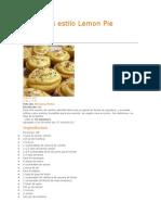 Cupcakes Estilo Lemon Pie