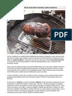 Paletilla de Cerdo Iberico Marinada y Asada en Barbacoa