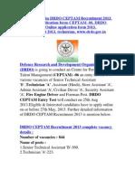 Www.drdo.Gov.in DRDO CEPTAM Recruitment 2013 Online Application Form-CEPTAM -06, DRDO CEPTAM, Online Application Form 2013, Recruitment 2013, Technician, Www.drdo.Gov.in
