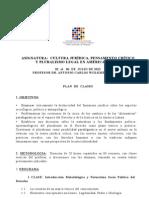 Plan de Estudios de Antonio Wolkmer