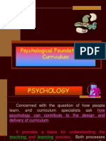 Psychological Foundations of Curriculum-Dr. D