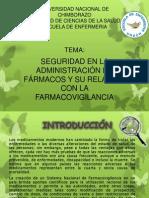 Seguridad en La Administracion de Farmacos y Su Relacion Con La Farmacovigilancia