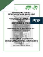POA 2012 Santacruz.gob.Bo