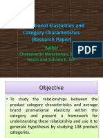 Promotional Elasticities and Category Characteristics